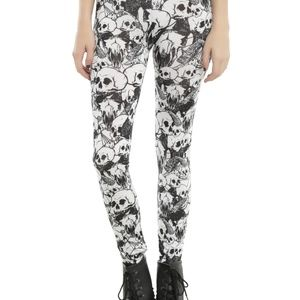 Occult Leggings Goth witch skull CATACOMBS